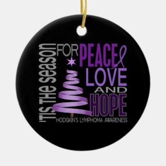 Hodgkin's Lymphoma Christmas 1 Ornaments