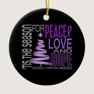 Hodgkin's Lymphoma Christmas 1 Ornaments