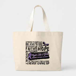 Hodgkin's Lymphoma Collage - Fight Like a Girl Canvas Bag