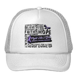 Hodgkin's Lymphoma Collage - Fight Like a Girl Trucker Hat