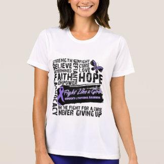Hodgkin's Lymphoma Collage - Fight Like a Girl Tee Shirt