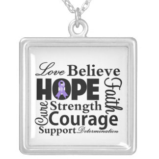Hodgkins Lymphoma Collage of Hope Pendant