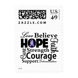 Hodgkins Lymphoma Collage of Hope Postage Stamp