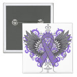 Hodgkins Lymphoma Cool Wings Button