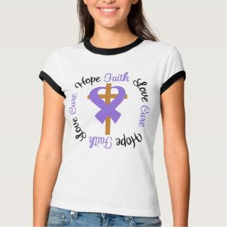 Hodgkins Lymphoma Faith Hope Love Cross T-shirt