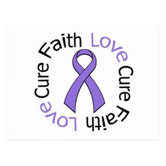 Hodgkin's Lymphoma Faith Love Cure Postcard