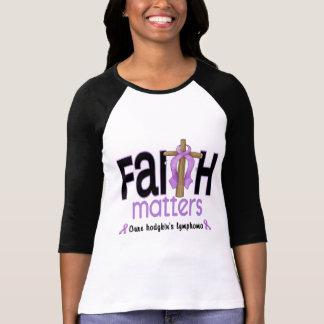 Hodgkins Lymphoma Faith Matters Cross 1 Tee Shirt