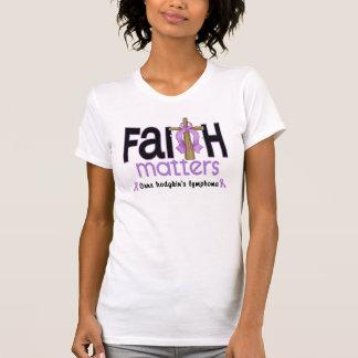 Hodgkins Lymphoma Faith Matters Cross 1 Tee Shirts