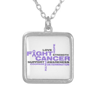 Hodgkins Lymphoma Fight Collage Personalized Necklace