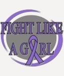 Hodgkins Lymphoma Fight Like A Girl Circular T Shirts
