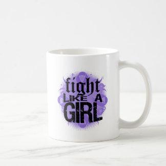 Hodgkin's Lymphoma Fight Like A Girl Rock Ed. Classic White Coffee Mug