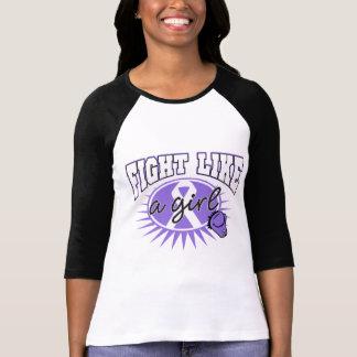 Hodgkin's Lymphoma Fight Like A Girl Sporty Callou Shirts