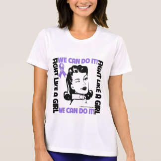 Hodgkin's Lymphoma Fight Like A Girl We Can Do It T Shirt