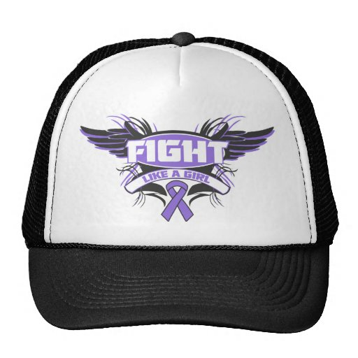 Hodgkins Lymphoma Fight Like a Girl Wings.png Trucker Hat