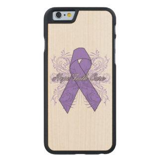 Hodgkins Lymphoma Flourish Hope Faith Cure Carved® Maple iPhone 6 Slim Case