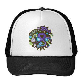 Hodgkin's Lymphoma Groovy Fight Like A Girl Trucker Hat