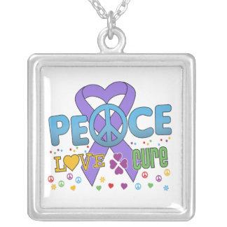 Hodgkin's Lymphoma Groovy Peace Love Cure Necklaces