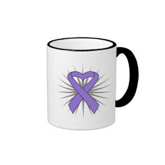 Hodgkins Lymphoma Heart Ribbon Mug
