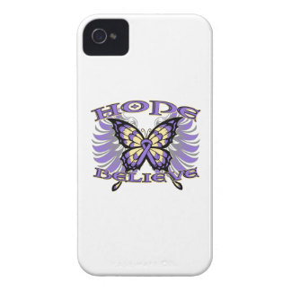 Hodgkins Lymphoma Hope Believe Butterfly iPhone 4 Case-Mate Case