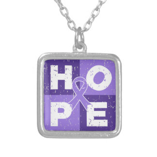 Hodgkins Lymphoma HOPE Cube Pendants