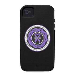 Hodgkins Lymphoma Hope Intertwined Ribbon iPhone 4/4S Cases