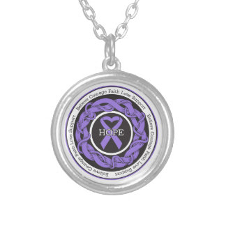 Hodgkins Lymphoma Hope Intertwined Ribbon Personalized Necklace