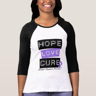 Hodgkins Lymphoma HOPE LOVE CURE Tshirts