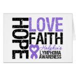 Hodgkin's Lymphoma HOPE LOVE FAITH Card