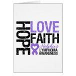 Hodgkin's Lymphoma HOPE LOVE FAITH Greeting Card