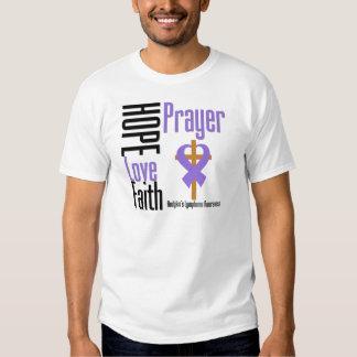 Hodgkins Lymphoma Hope Love Faith Prayer Cross Shirt