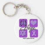 Hodgkins Lymphoma Hope Love Inspire Awareness Keychain