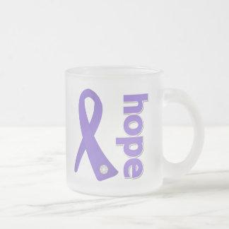 Hodgkins Lymphoma Hope Ribbon 10 Oz Frosted Glass Coffee Mug