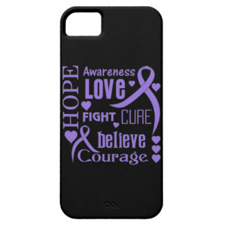 Hodgkins Lymphoma Hope Words Collage iPhone 5 Case