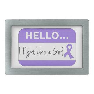 Hodgkins Lymphoma I Fight Like a Girl Belt Buckle