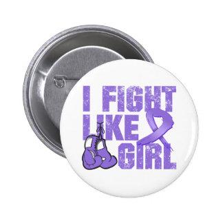 Hodgkins Lymphoma I Fight Like A Girl (Grunge) Pinback Button