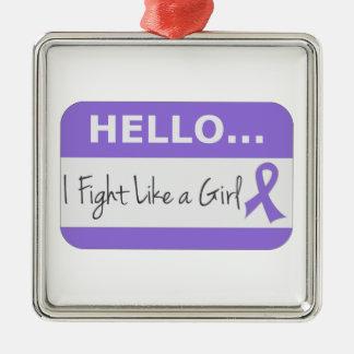 Hodgkins Lymphoma I Fight Like a Girl Ornaments
