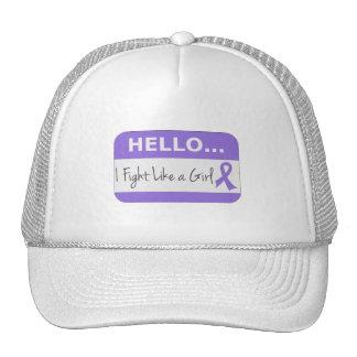 Hodgkins Lymphoma I Fight Like a Girl Trucker Hat