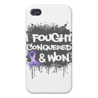Hodgkin's Lymphoma I Fought Conquered Won iPhone 4/4S Cover