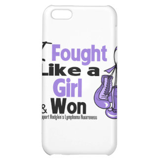 Hodgkin's Lymphoma I Fought Like a Girl and Won Cover For iPhone 5C