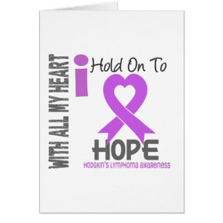 Hodgkins Lymphoma I Hold On To Hope Card