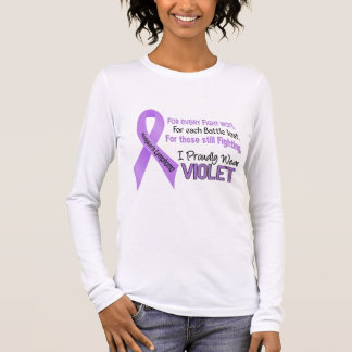 Hodgkins Lymphoma I Proudly Wear Violet 1 Long Sleeve T-Shirt