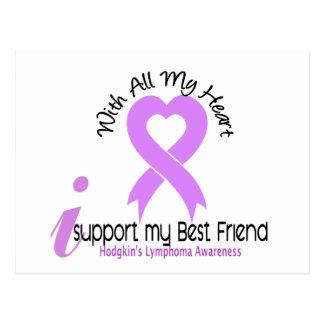 Hodgkins Lymphoma I Support My Best Friend Postcard