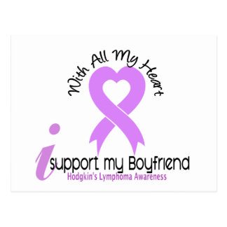 Hodgkins Lymphoma I Support My Boyfriend Postcard