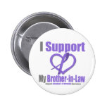 Hodgkin's Lymphoma I Support My Brother-in-Law Buttons
