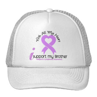 Hodgkins Lymphoma I Support My Brother Mesh Hats