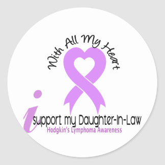 Hodgkins Lymphoma I Support My Daughter-In-Law Stickers