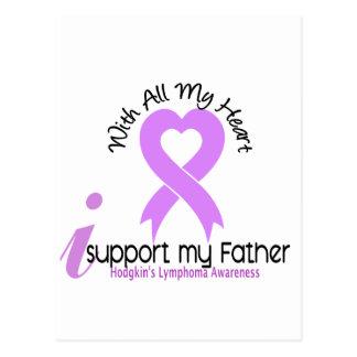 Hodgkins Lymphoma I Support My Father Postcard