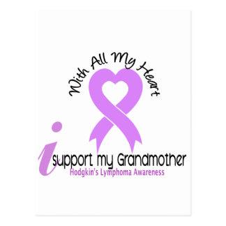 Hodgkins Lymphoma I Support My Grandmother Postcard