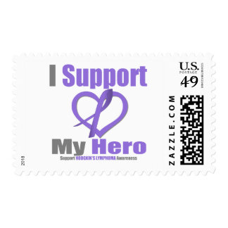 Hodgkin's Lymphoma I Support My Hero Stamp