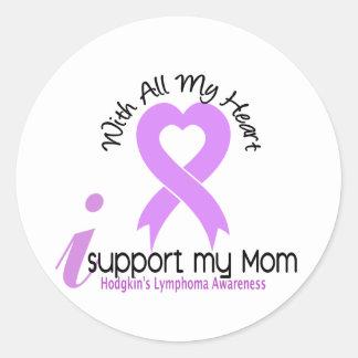 Hodgkins Lymphoma I Support My Mom Stickers
